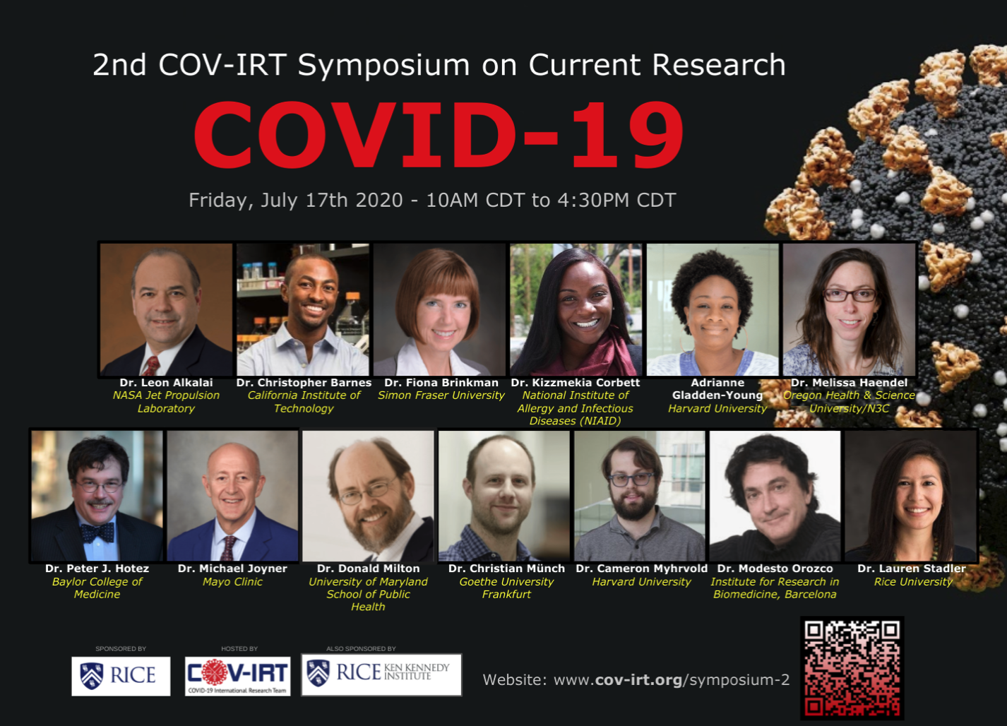 COVID-19 International Research Team Hosts Symposium on Health Crisis